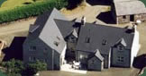 Aerial view of The self catering accommodation