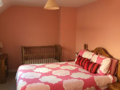 The Master Bedroom in Trostan Cottage