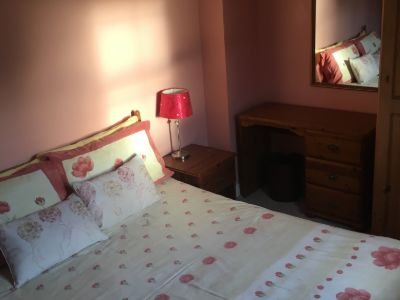 The Double Bedroom in Trostan Cottage