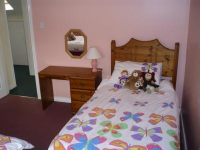 The Twin Bedroom in Trostan Cottage