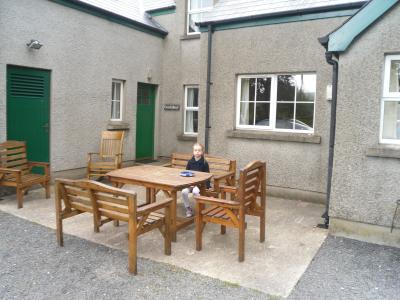 The Picnic area in Tievebulliagh Cottage